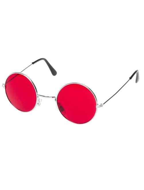 Gafas redondas disfraz de hippie                                                     rojo