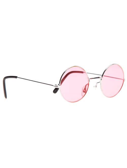 Gafas redondas disfraz de hippie                                                                                         rosa