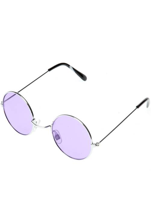 Gafas redondas disfraz de hippie                                                                                         violeta