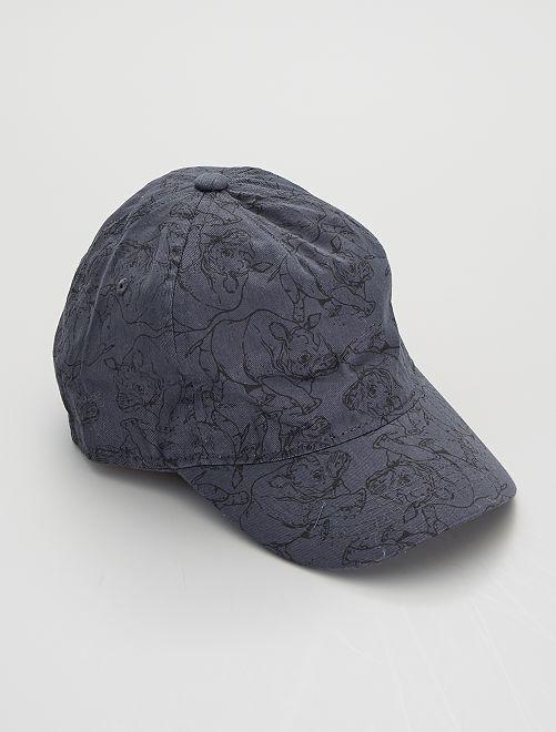 Gorra bordada con estampado de 'rinocerontes'                                         AZUL