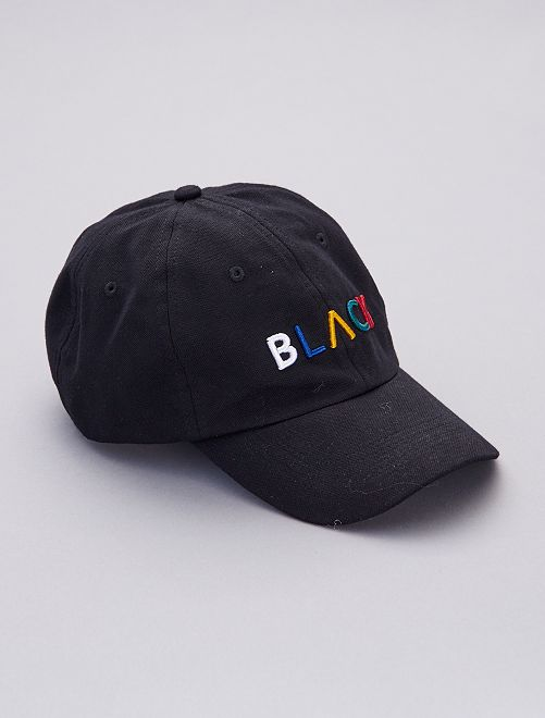 Gorra con bordado                                         negro