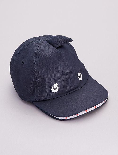 Gorra con doble visera 'tiburón'                             azul