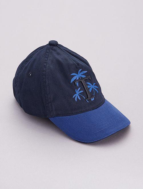 Gorra con estampado 'Palmeras'                             azul