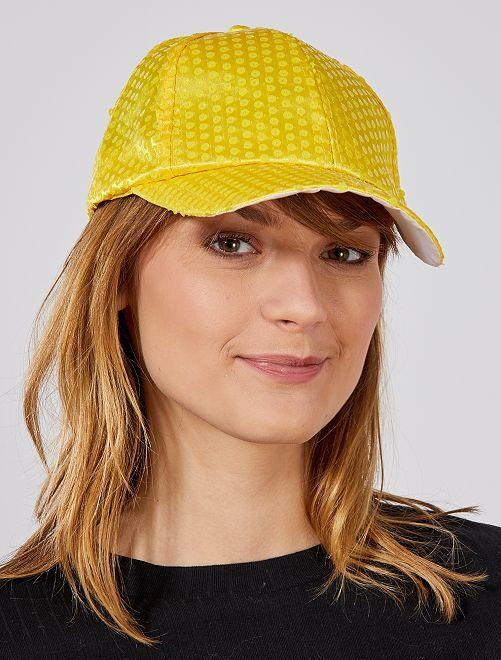 Gorra con lentejuelas flúor                                             amarillo