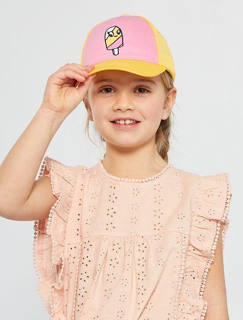 Gorra con rejilla                             ROSA