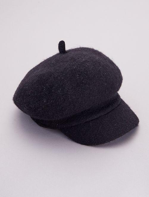 Gorra de lana                                         negro