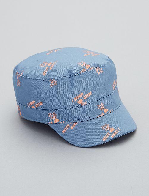 Gorra estampada                             azul denim Bebé niño