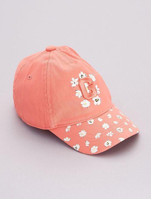 Gorra estampado 'flores'                             ROSA