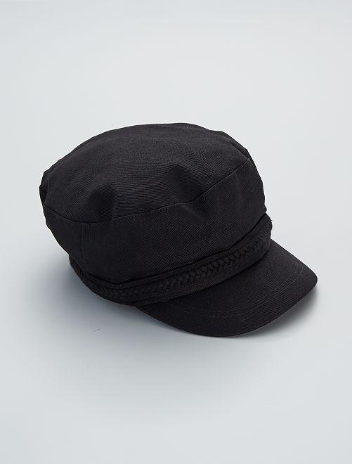 Gorra estilo 'baker boy'                                         negro
