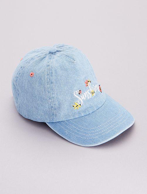 Gorra 'flores'                             azul