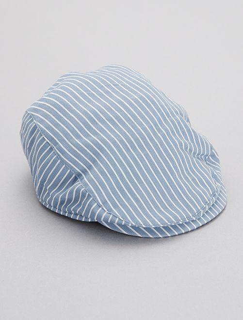 Gorra inglesa a rayas                             a rayas azul Bebé niño