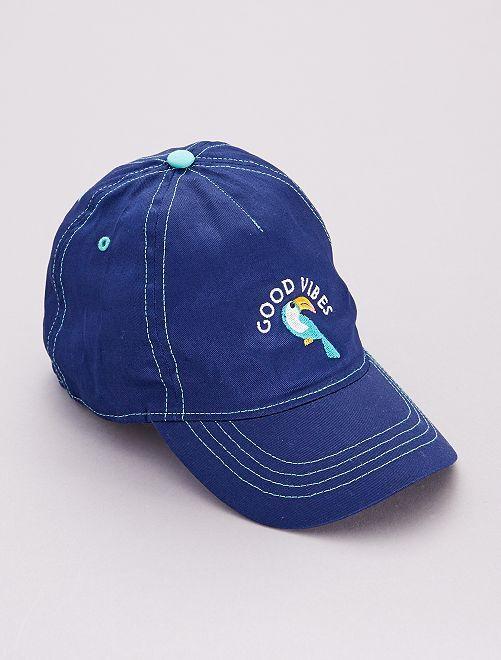 Gorra 'tucán' 'good vibes'                             azul cobalto