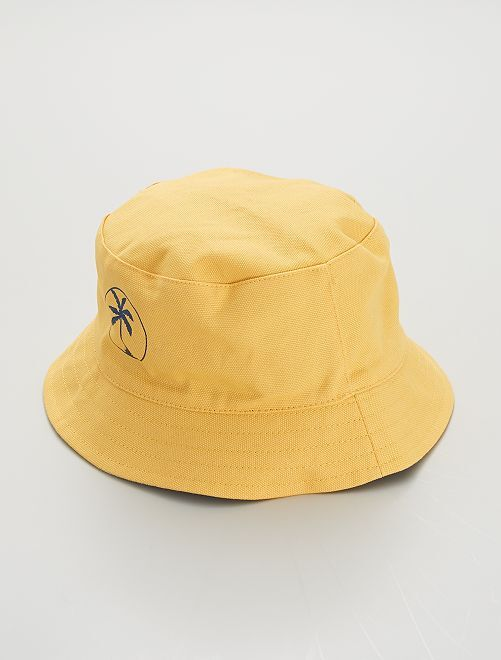 Gorro bucket reversible                             amarillo crema