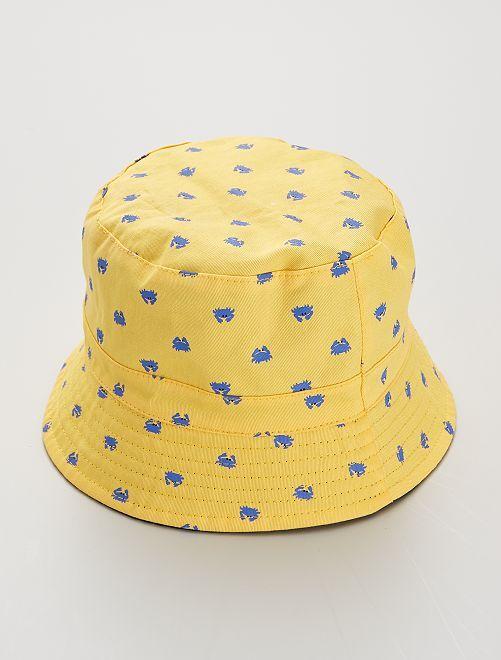 Gorro bucket reversible                             amarillo/azul
