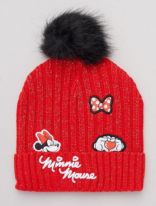Gorro con borla 'Minnie'                             rojo/negro