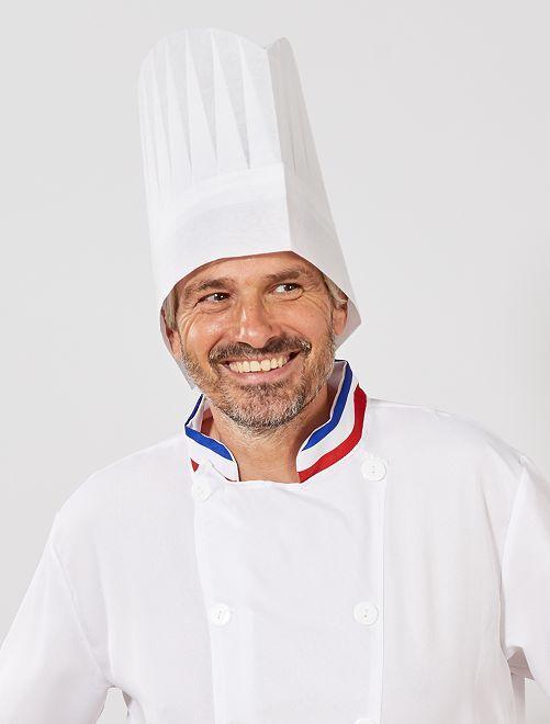 Gorro de cocinero                             blanco