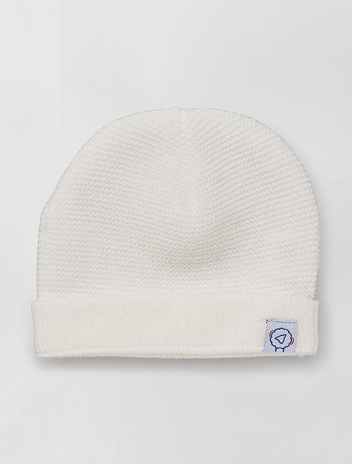 Gorro de punto 'La Manufacture de Layette'                             blanco nieve