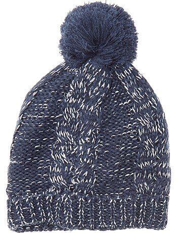 Gorro de punto tricotado con borla - Kiabi