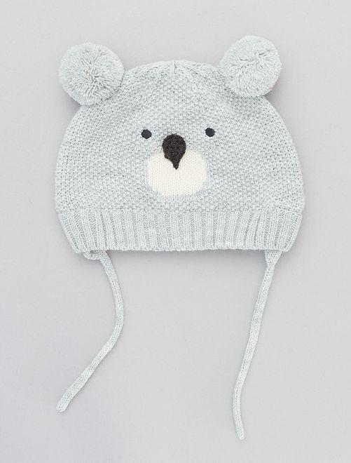 Gorro divertido de tricot                                             GRIS