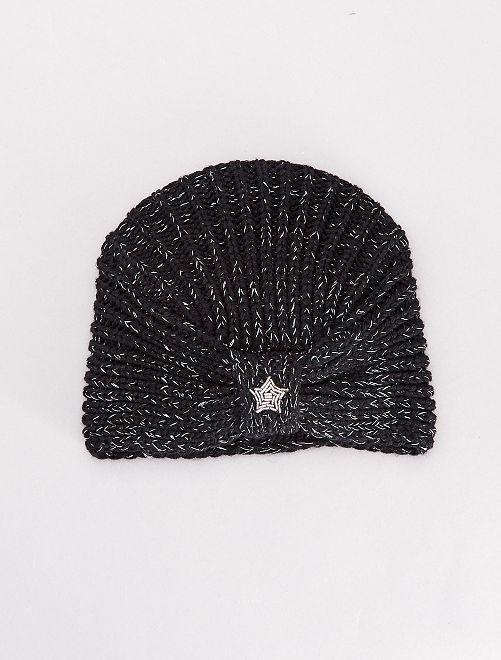 Gorro estilo turbante                                         negro