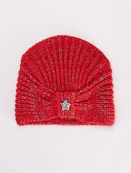 Gorro estilo turbante                                         rojo