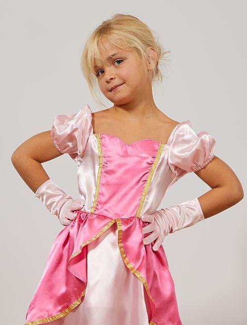 Guantes de princesa de los hielos                                         rosa