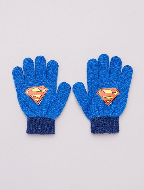 Guantes 'Superman'                                         azul