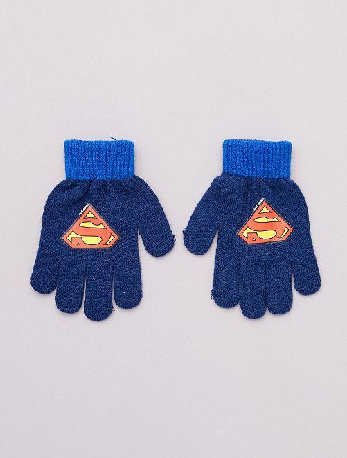 Guantes 'Superman'                                         azul marino