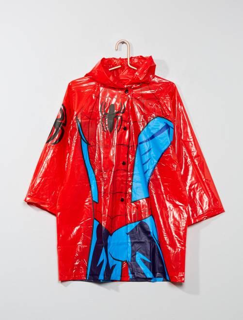 Impermeable de 'Spiderman'                             rojo Chico