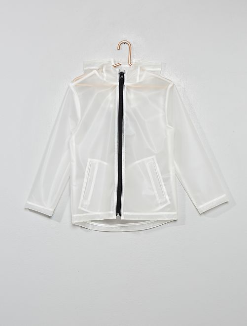 Impermeable transparente                             blanco