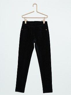 Pantalones - Jegging de terciopelo