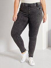 Pantalones Vaqueros De Mujer Tallas Grandes Mujer Kiabi
