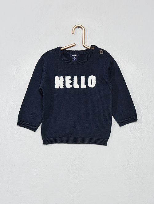 Jersey algodón bio 'eco-concepción'                     AZUL