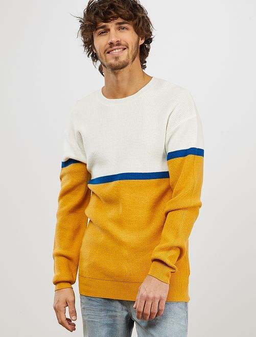 Jersey colorblock                                         AMARILLO