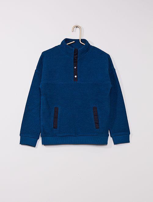 Jersey con cremallera                                         azul poseidon