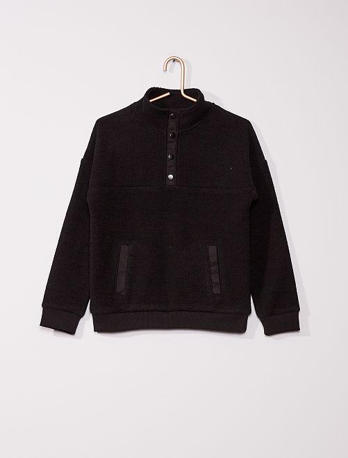 Jersey con cremallera                                         negro