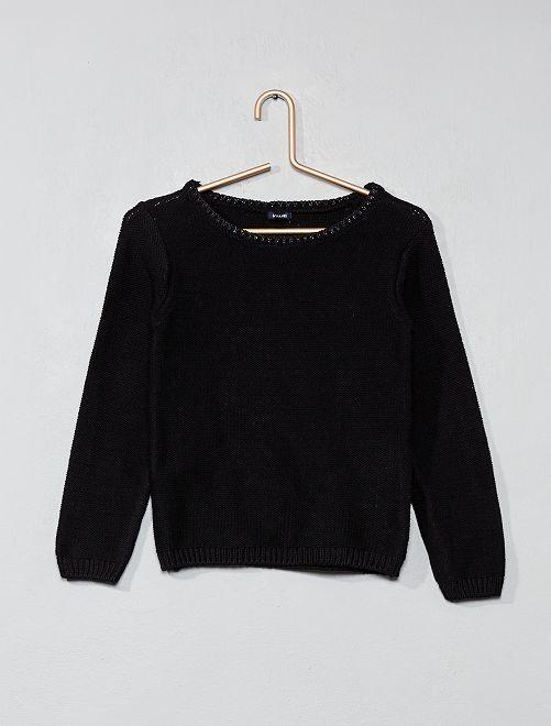 Jersey con cuello brillante                             negro