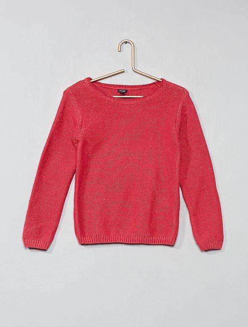 Jersey con cuello brillante                                                     rosa oscuro Chica