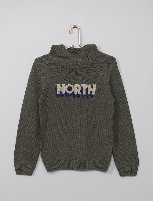 Jersey con cuello chal 'north'                                         KAKI