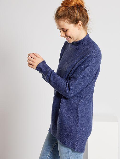 Jersey con cuello chimenea                                                                                                                                         azul cobalto