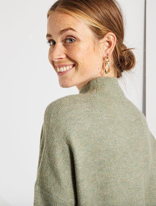 Jersey con cuello chimenea                                                                                                                                         KAKI