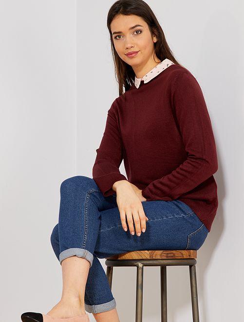 Jersey con cuello de camisa                             ROSA Mujer talla 34 a 48