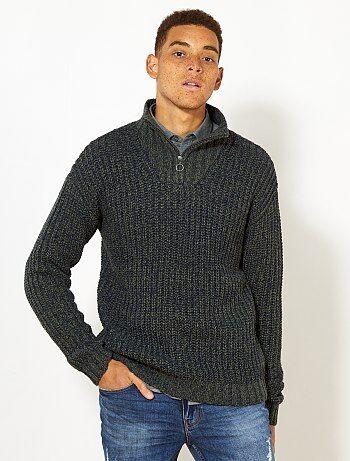 Hombre talla S-XXL - Jersey con cuello de cremallera - Kiabi