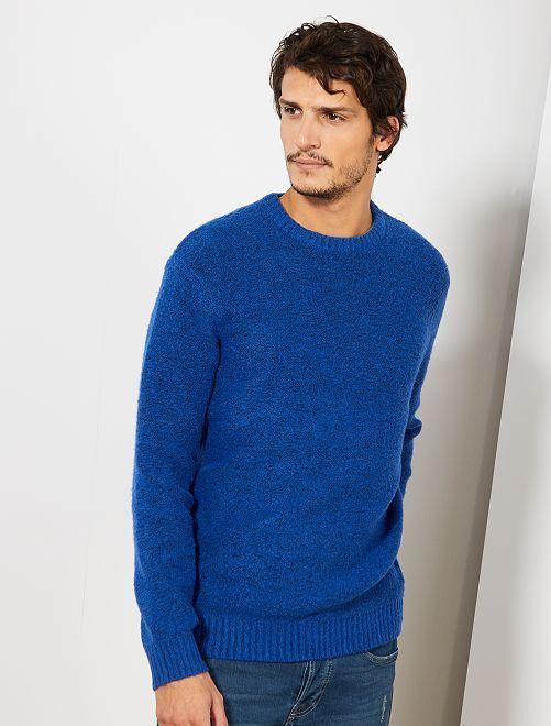 Jersey con cuello redondo                                                                                                                 azul