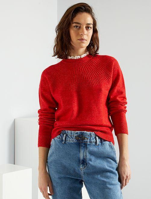 Jersey con cuello victoriano                                         rojo