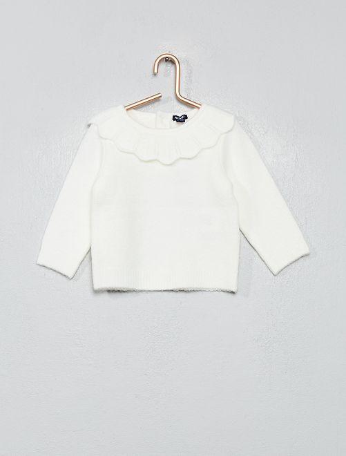 Jersey con gorguera                                             blanco nieve