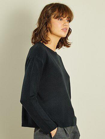 Mujer talla 34 to 48 - Jersey corto de punto fino - Kiabi