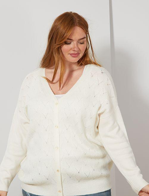 Jersey cuello 2 en 1                     blanco nieve