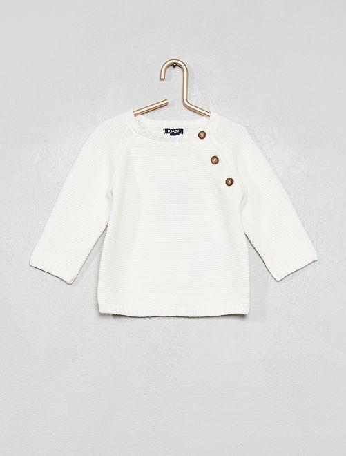 Jersey de algodón                                                                             blanco nieve