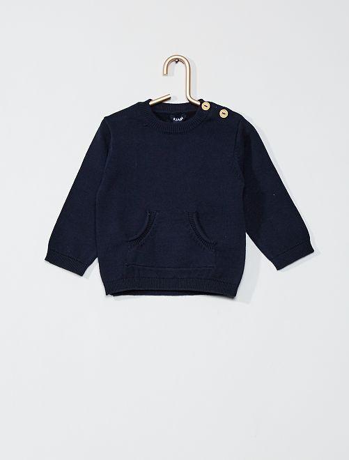 Jersey de algodón 'eco-concepción'                                                                 azul